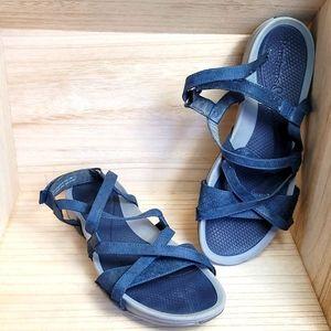 Baretraps Womens Gladiador Navy Blue Sandals